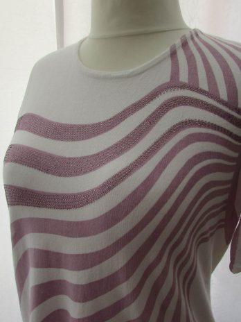 Pullover Ovanti 46 in Flieder| Weiß