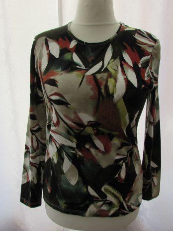 "Shirt Marinello ""Large"" in Oliv| Gemustert"
