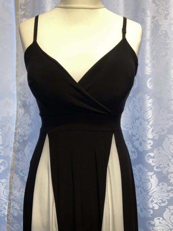 Kleid 36 in Weiß| Schwarz