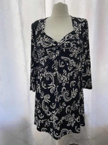 Kleid Magna L/XL in Schwarz und Weiß