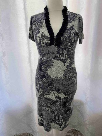 Kleid Mya 42 in Schwarz  Weiß