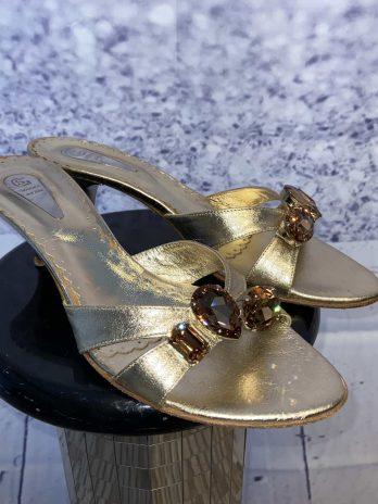 Schuhe Giorgio Salustro 39 in Gold