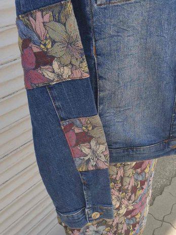 Jeansjacke Jones Größe 40 Blau gemustert