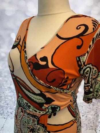 Kleid Opposé 40 in Orange  Gemustert