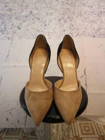 Schuhe Vera Pelle 38 in Schwar|Beige
