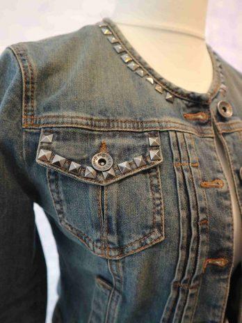 Jeans Jacke Sisley 34 in Blau