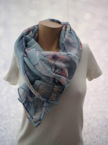 Loop Schal in Blau/Floral