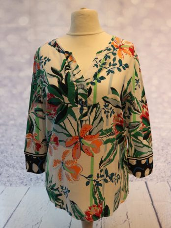 Bluse Airfield 38 in Floral|Bunt