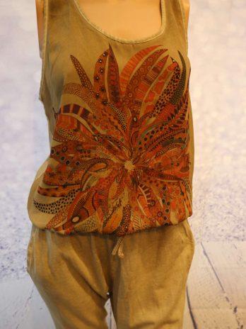 "Jumpsuit Key Largo Girls ""Medium"" in Schlamm|Bunt"