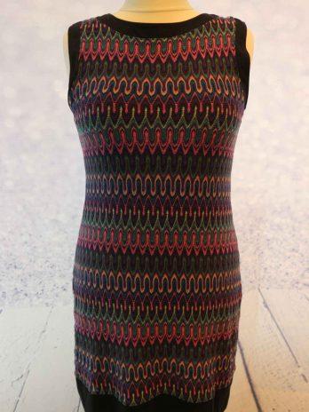 Kleid Comma 40 in Schwarz|Pink
