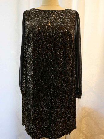 Kleid/Longshirt Billie&Blossom Curve 46 in Schwarz|Gold
