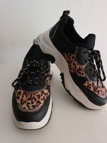 Sneakers 38 in Schwarz|Animalprint