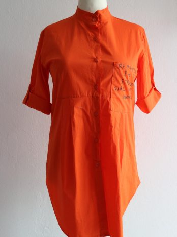 """Bluse Made in Italy """"M"""" in Orange"""