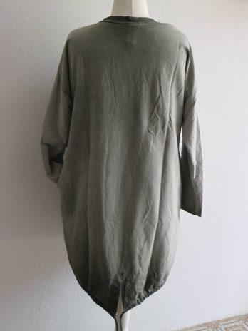 Kleid 40 in Grün|Grau