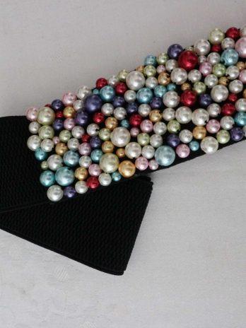 Gürtel in Schwarz|Perlen