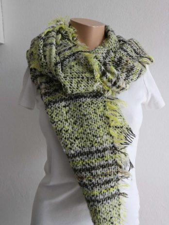 Schal in Gelb|Grau
