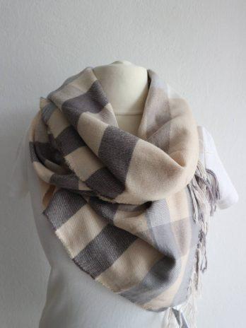 Schal in Grau|Beige