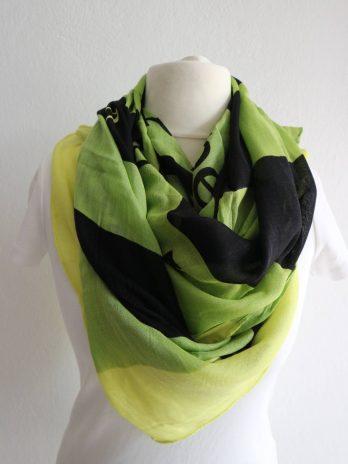 Schal in Grün|Gelb