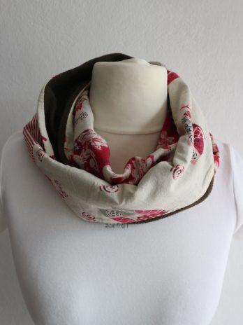 Loop Schal Fabric Face in Bunt