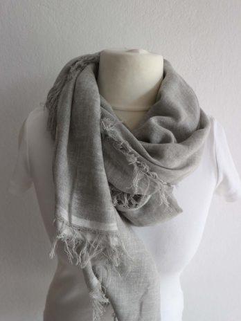 Schal-Tuch OUI in Grau