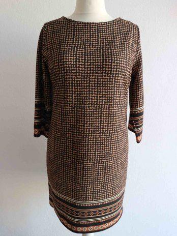 Kleid 38/40 in Cognac|Schwarz