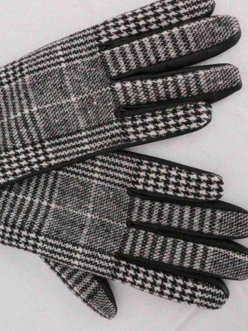 Handschuhe S.Oliver in Schwarz|Weiss