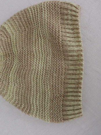 Set Schal+Mütze in Grün|Gemustert