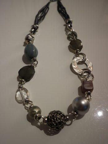 Kette DIM in Silber|Graublau